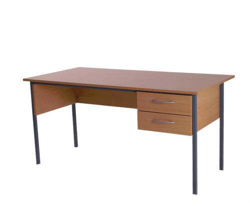 Basix Admiralty 1200 mm Desk in Warm Beech click for larger image