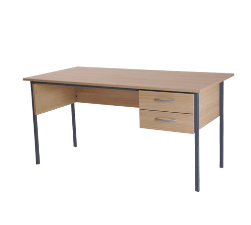 Basix Admiralty 1200 mm Desk in Blonde Oak