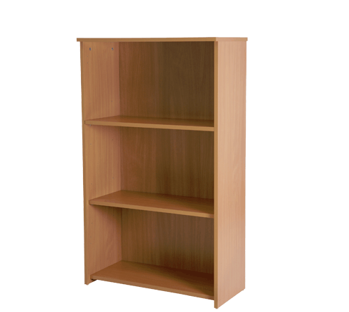 Basix 1200 mm Bookcase In Warm Beech click for larger image