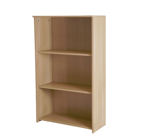 Basix 1200 mm Bookcase In Blonde Oak click for larger image