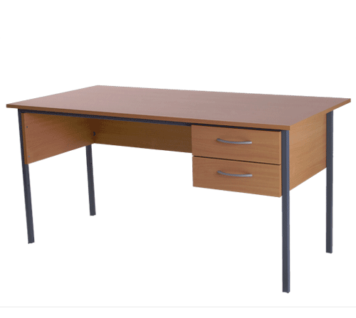 Basix Admiralty 1500 mm Desk in Warm Beech door click for larger image