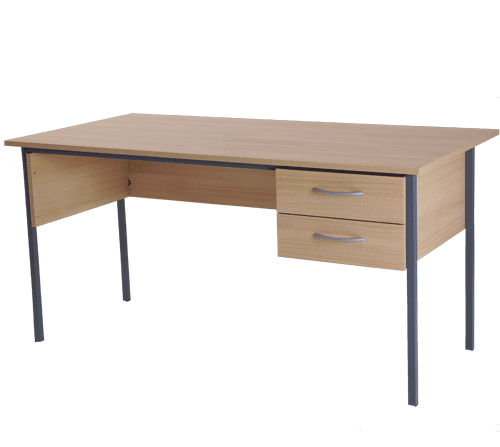 Basix Admiralty 1500 mm Desk in Blonde Oak click for larger image