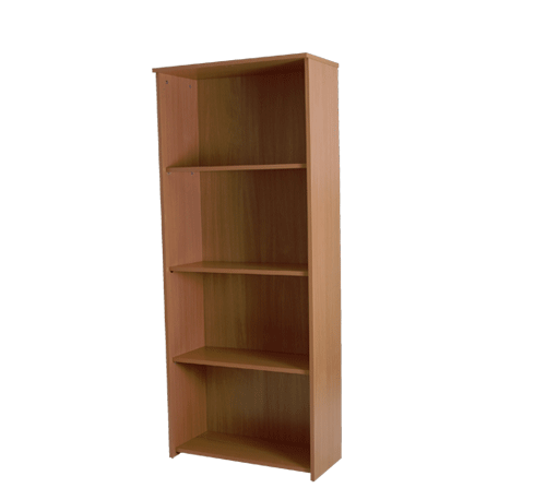 Basix 1750 mm Bookcase In Warm Beech click for larger image