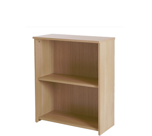 Basix 800 mm Bookcase In Blonde Oak click for larger image