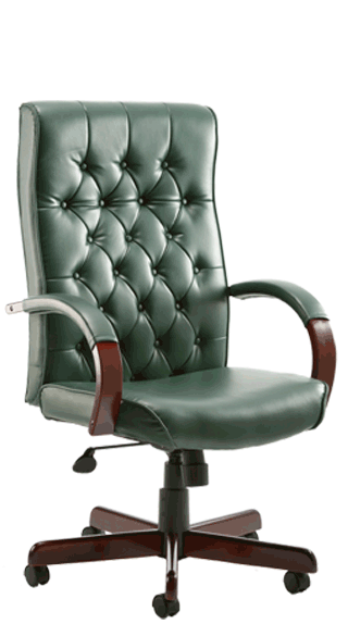 Chesterfield Green Leather click for larger image