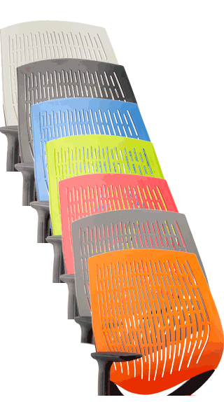 Dura Backrests, White, Black, Blue, Green Red, Grey and Orange