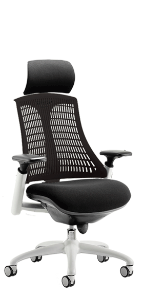 Flex White Frame Headrest Black Backrest click for larger image