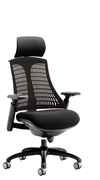 Flex Black Frame Headrest Black Backrest click for larger image