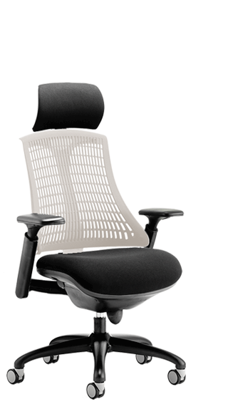 Flex Black Frame Headrest Moonstone Backrest click for larger image