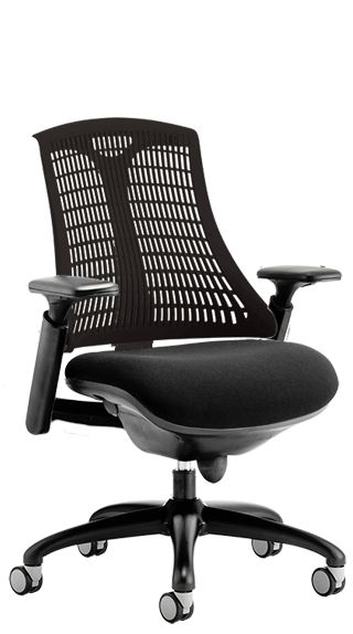 Flex Black Frame with Black Backrest Seat click for larger image