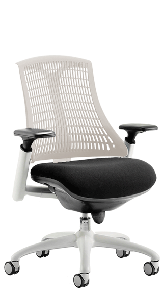 Flex White Frame with Moonstone Backrest click for larger image