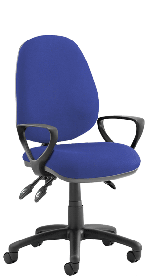 Luna III Blue Fixed Armrests KC0137