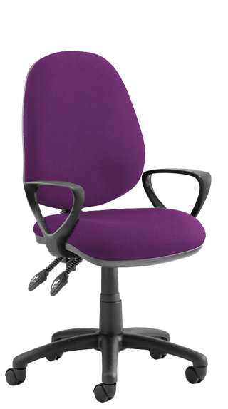 Luna II Fixed Armrests Bespoke Tansy Purple click for larger image