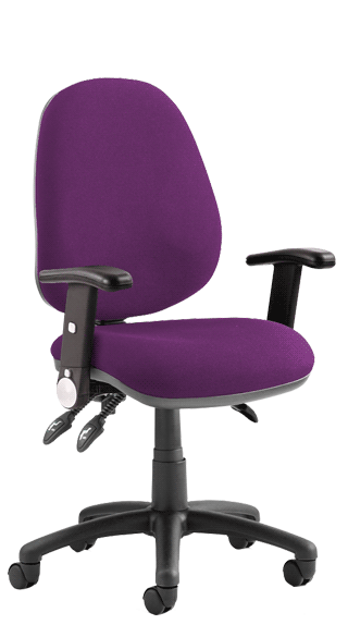 Luna III Height Adjustable Foldaway Armrests Bespoke Tansy Purple KCUP0948