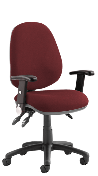 Luna III Height Adjustable Foldaway Armrests Bespoke Ginseng Chilli click for larger image