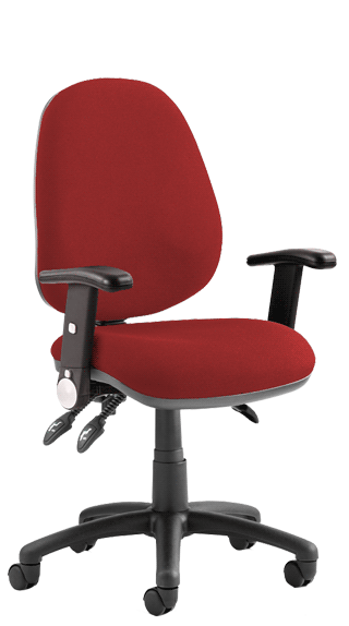 Luna III Height Adjustable Foldaway Armrests Bespoke Tobasco Red click for larger image