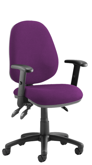 Luna III Height Adjustable Armrests Bespoke Tansy Purple KCUP0956