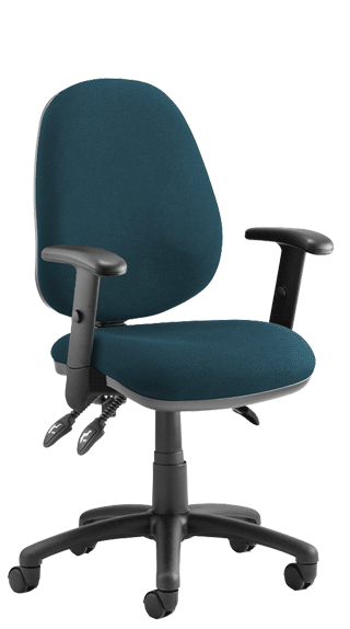 Luna III Height Adjustable Armrests Bespoke Maringa Teal KCUP0958