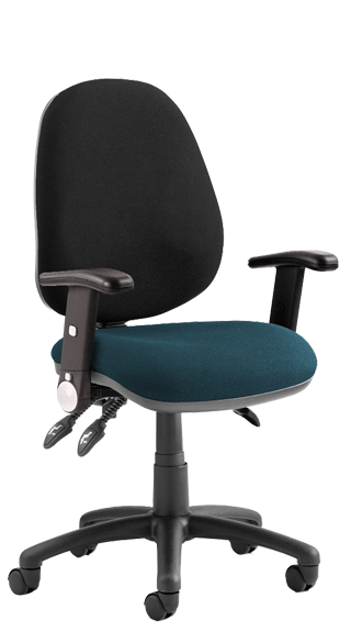 Luna III Height Adjustable Foldaway Armrests Bespoke Maringa Teal KCUP0974