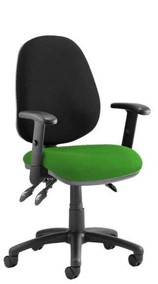 Luna III Height Adjustable Armrests Bespoke Myrrh Green click for larger image