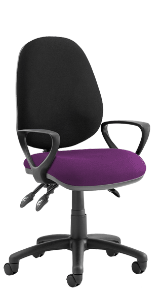 Luna III Fixed Armrests Bespoke Tansy Purple click for larger image