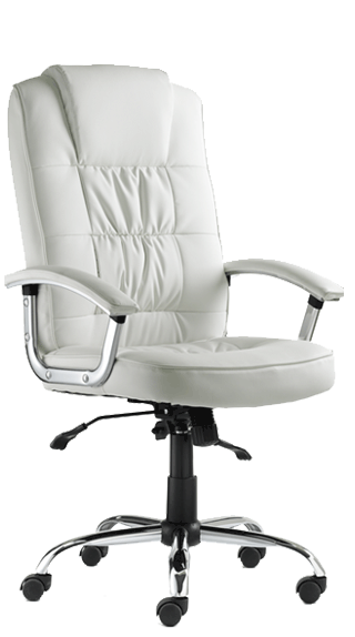 Moore Deluxe White Leather click for larger image
