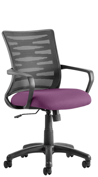 Vortex Mesh Backrest Bespoke Seat Tansy Purple  click for larger image